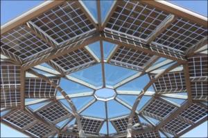 coupole photovoltaïque kiosque KIOSUN