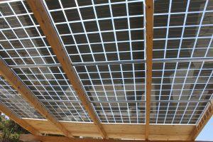 panneaux photovoltaïques bi verre ïle de Kéa